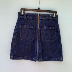 Madewell A Line Denim Mini Skirt